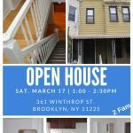 Brooklyn Open House Sat Mar 17th @ 1:00-2:30pm -361 Winthrop St. Brooklyn, NY